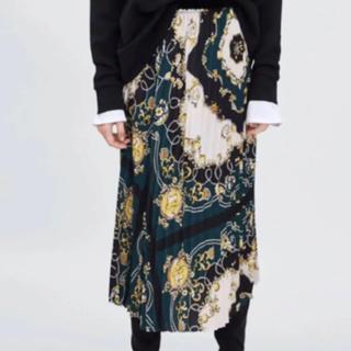 ZARA - ZARA ザラ スカーフ柄 プリーツスカート
