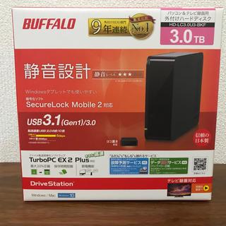 バッファロー(Buffalo)のBUFFALO 外付けHDD 3TB(PC周辺機器)