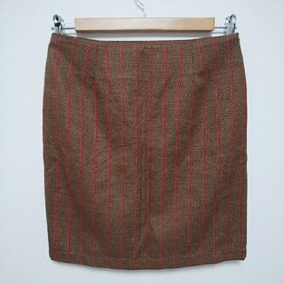 バビロン(BABYLONE)の未使用バビロン 茶色×赤ストライプタイトスカート(ミニスカート)