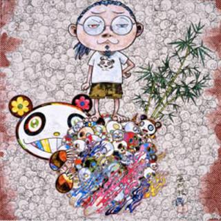 村上隆 カイカイキキ ポスター パンダの親子と僕 ジンガロ(版画)