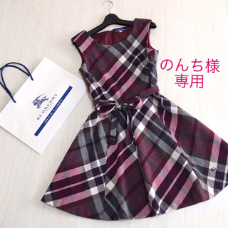 BURBERRY BLUE LABEL - 美品☆優木まおみさん着用 バーバリーブルーレーベル ワンピース 38サイズ