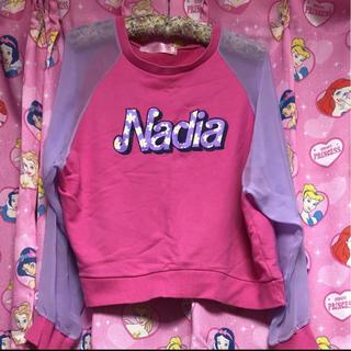 ナディア(NADIA)のNADIA シースルートップス(トレーナー/スウェット)