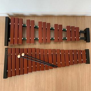 ヤマハ(ヤマハ)のYAMAHA TX-6 卓上木琴 【半音付き】 【バチ付き】 【ヤマハ TX6】(木琴)