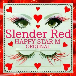 ❤★Slender Red★partyまつげ 赤スリム 羽根★送無料●即購入不可(つけまつげ)