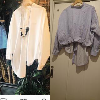 ENFOLD - エンフォルド ストライプバルーンアシンメトリーシャツ