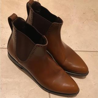 セルジオロッシ(Sergio Rossi)の超美品 セルジオロッシ ブーツ ブラウン sergio rossi メンズ 正規(ブーツ)