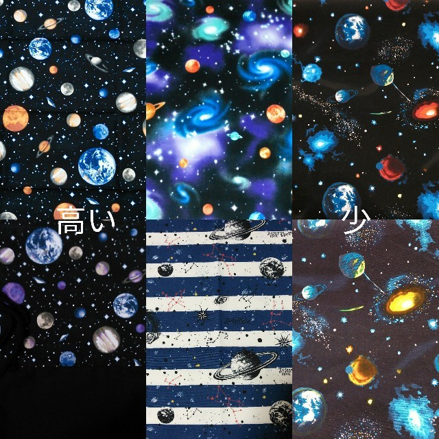 宇宙柄 レッスンバック上履き袋弁当袋 座布団カバー  防災頭巾カバー オーダー ハンドメイドのキッズ/ベビー(バッグ/レッスンバッグ)の商品写真