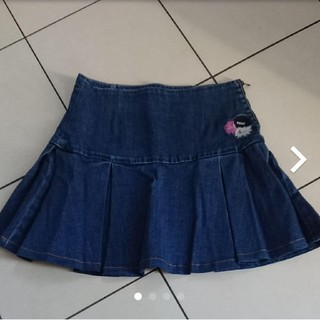 フェンディ(FENDI)の美品✨フェンディ モンスター デニム デニムスカート スカート(ミニスカート)