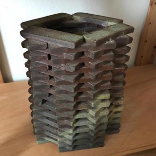荒船焼オリジナル焼き締め積み上げ花瓶(陶芸)