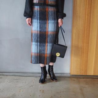 グリード(GREED)の新品 GREEDグリード CHECK SHAGGY Skirt 定価34560円(ロングスカート)