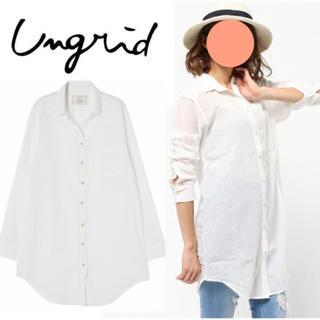 Ungrid - アングリッド シャツワンピース ロングシャツ