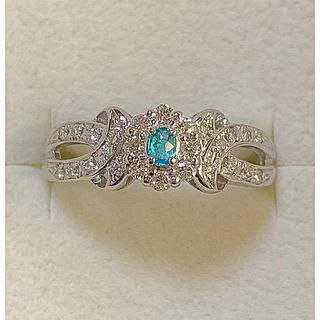 プラチナパライバトルマリン ダイヤモンドリング(リング(指輪))