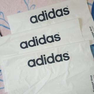 アディダス(adidas)のアディダス ショップ袋 紐付き 三枚(ショップ袋)