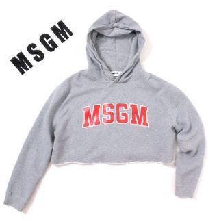エムエスジイエム(MSGM)の17AW MSGM ショート丈 ロゴパーカー 定価31,320円(パーカー)