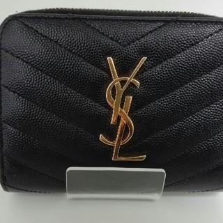 Saint Laurent - Yves Saint Laurent (YSL) 【二つ折り財布】 ブラック