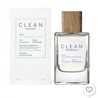 クリーン(CLEAN)のCLEAN クリーン ウォームコットン リザーブ 100ml 新品未使用(ユニセックス)