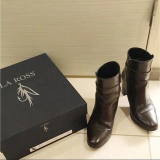 サルトル(SARTORE)のLA ROSS ラロス ❤︎ ショートブーツ ブラウン 35.5(ブーツ)