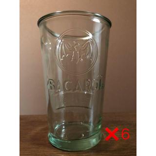 サッポロ(サッポロ)の6個セット バカルディ グラス BACARDI【新品】(アルコールグッズ)