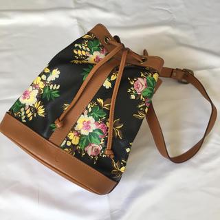 ケンゾー(KENZO)のUSED 810 KENZO フラワー  巾着 ショルダーバッグ bag カバン(ショルダーバッグ)