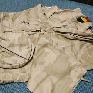 ベルギー軍 デザート迷彩服 上下セット 実物放出品(戦闘服)
