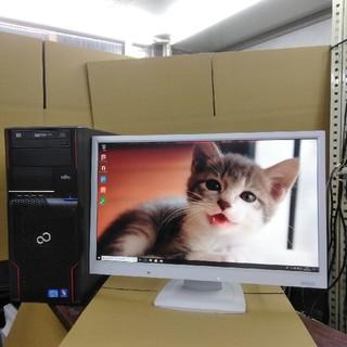 フジツウ(富士通)のGTX1050搭載ゲーミングPC メモリ8GB+HDD 500GB +モニター(デスクトップ型PC)