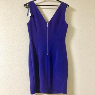 ザラ(ZARA)のZARA  ワンピース ドレス ブルー(ミディアムドレス)