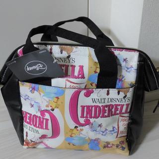 ディズニー(Disney)の【未使用タグ付き】ディズニー シンデレラ ワイドオープンバッグ(ハンドバッグ)