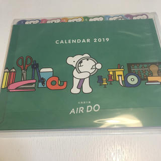 エアドゥ 2019卓上カレンダー ベアドゥ(航空機)