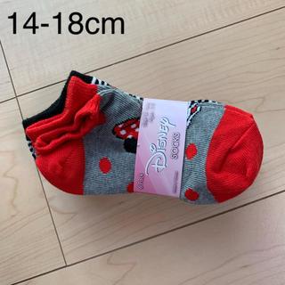 ディズニー(Disney)の新品☆ディズニー靴下☆ミニーちゃん☆14-18cm(靴下/タイツ)