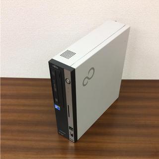 フジツウ(富士通)の初心者に最適、ディすぐに使える、スクトップPC、キーボードとマウス付け(デスクトップ型PC)