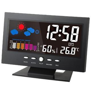 即買いOK★カラーディスプレイ☆デジタル温度湿度計 LCD温度湿度計