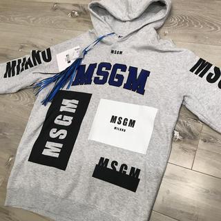 エムエスジイエム(MSGM)のMSGM★裏起毛 フード トレーナー/パーカー XS!正規品(パーカー)