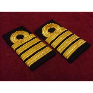 GB英国/イギリス海軍*エポレット用金モール製*大佐肩章(実物)(戦闘服)