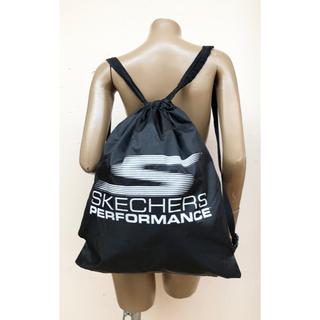 スケッチャーズ(SKECHERS)の未使用 スケッチャーズ 白文字ロゴ入りリュック 巾着 バックパック(リュック/バックパック)