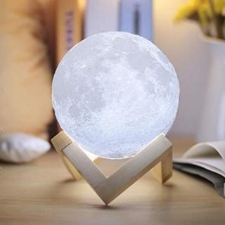 ★即日発送★ USB 月光 月のランプ 白光・黄光に切替可能 10cm(フロアスタンド)