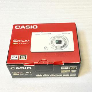 カシオ(CASIO)の【展示美品】 CASIO デジタルカメラ EXILIM EX-ZR70WE(コンパクトデジタルカメラ)