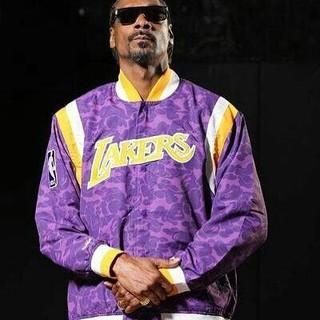 A BATHING APE - Bape Mitchell & Ness Lakers Jacket