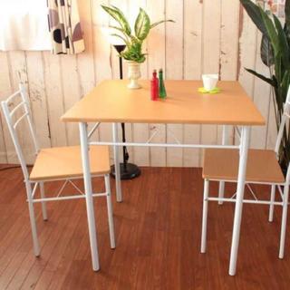 ダイニングテーブル 3点 セット ナチュラル(ダイニングテーブル)