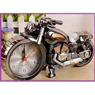 【超かっこいい♪】ハーレー風 目覚まし時計 ブラック(置時計)
