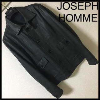 ジョゼフ(JOSEPH)の◆超美品◆ジョセフ オム◆シープ ラムレザー ジャケット ブルゾン M グレー(レザージャケット)