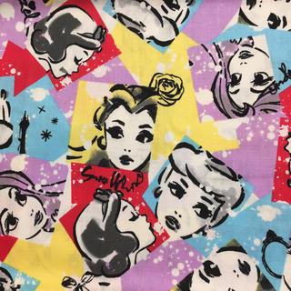 ディズニー(Disney)のレア生地‼️ディズニー プリンセス はぎれ 生地 ハンドメイド (生地/糸)