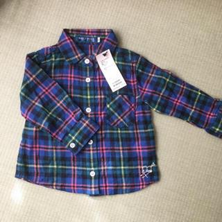 ベベ(BeBe)のネルシャツ タグ付き 80(シャツ/カットソー)