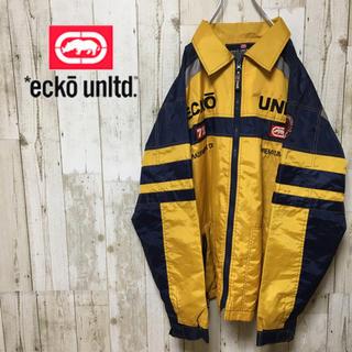 エコーアンリミテッド(ECKŌ UNLTD(ECKO UNLTD))の希少 90s エコーアンリミテッド ナイロンジャケット パンツ セットアップ(ナイロンジャケット)