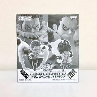 バンプレスト(BANPRESTO)のジャンプ50周年 ワールドコレクタブルフィギュア ワンピース ルフィ&カタクリ(アニメ/ゲーム)
