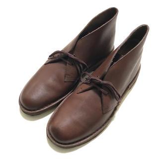 クラークス(Clarks)の定2.5万極美品 クラークス 表革スムースレザーデザートブーツGB8.5(ブーツ)