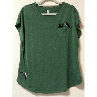 グラニフ(Design Tshirts Store graniph)の【新品未使用】【レディース】グラニフ ツバメ刺繍柄半袖Tシャツ (Tシャツ(半袖/袖なし))