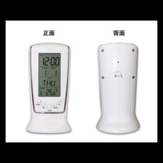 多機能!LEDライト 日付曜日 温度計 アラーム付き 置き時計 インテリア(置時計)