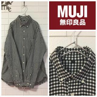 MUJI (無印良品) - 無印良品 ネル生地ギンガムチェックシャツ