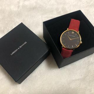 アパルトモンドゥーズィエムクラス(L'Appartement DEUXIEME CLASSE)の処分価格!新品 ラーソンジェニングス 正規ベルト 赤 レッド(腕時計)