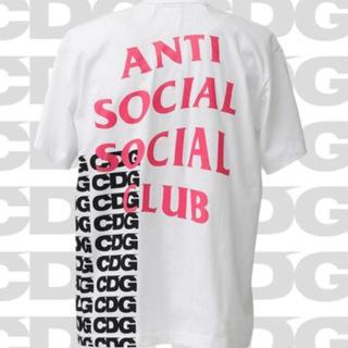 シュプリーム(Supreme)のcdg  anti social social club  tシャツ   ロンt(Tシャツ/カットソー(半袖/袖なし))